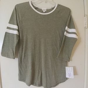 NWT Olive Green LuLaRoe Randy Top M